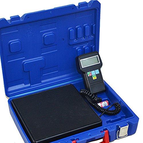 HUKOER Báscula electrónica de carga de refrigerante con Calibración de precisión electrónica,...
