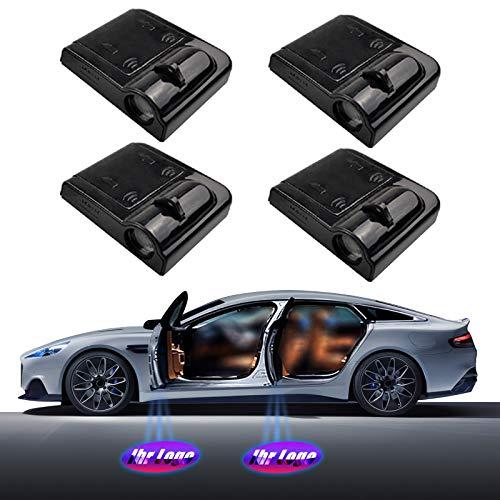 4 Stück Personalisierte Autotür Logo Licht Projektor, Verbesserte Benutzerdefinierte Autotür Willkommen Licht Projektor LED Light, Drahtlose Ghost Shadow Logo Licht für Autotür (alt)