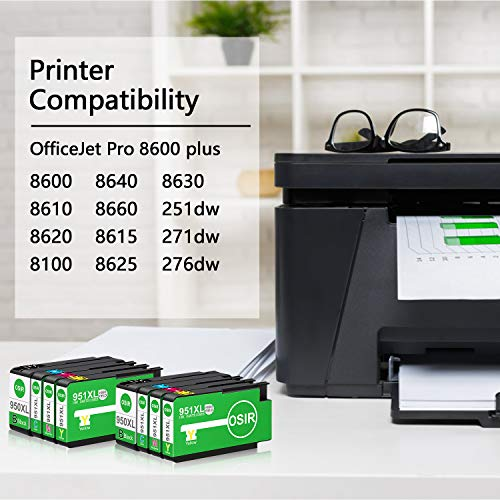 Osir Compatible Ink Cartridge Replacement for HP 950XL 951XL Combo Pack for HP OfficeJet Pro 8600 Plus 8610 8620 8100 8630 8640 8660 8615 8625 251DW 271DW 276DW Printer Photo #7