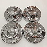 Ram 3500 Wheel Skins - PPCovers New Replacement for 2011-2016 Ram 3500 Chrome Wheel Hub Center Caps Set 1-TON Dually DRW Alcoa Alloy Wheel 2 Front and 2 Rear