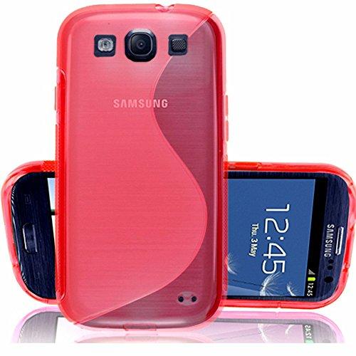 ANNART - Carcasa de silicona para Samsung Galaxy S3 i9300 i9305 Neo LTE 4G, color rojo