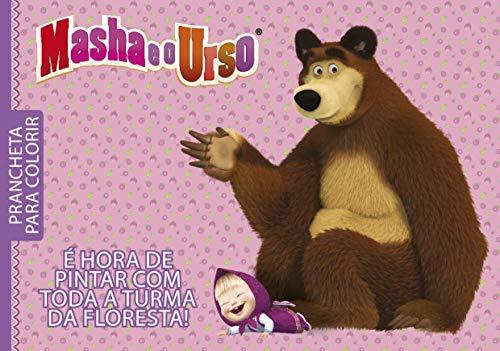 Masha e o Urso: Prancheta Para Colorir