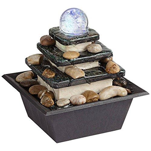 Rolling Ball Three Tier Tabletop Zen Fountain
