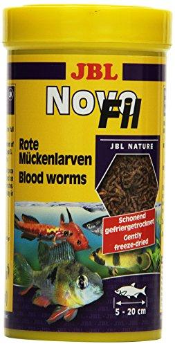 JBL NovoFil 30270 Ergänzungsfutter für wählerische Aquarienfische Rote Mückenlarven, 250 ml