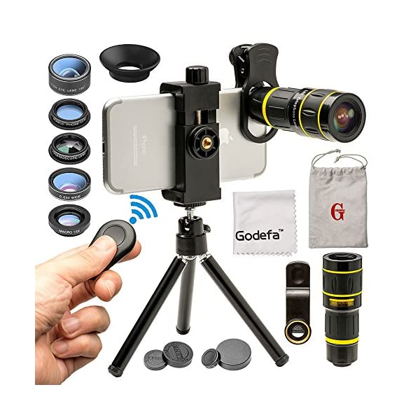 Phone Camera Lens Phone Lens Kit, Telephoto Lens, Wide Angle Lens & Macro Lens,...