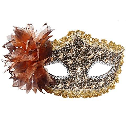 Belle vénitienne Jolie Masquerade Masque des yeux Fancy Dress Accessoire Café