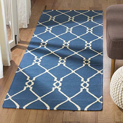 Safavieh Dhurries Collection DHU415A Handmade Flatweave Premium Wool Runner, 2