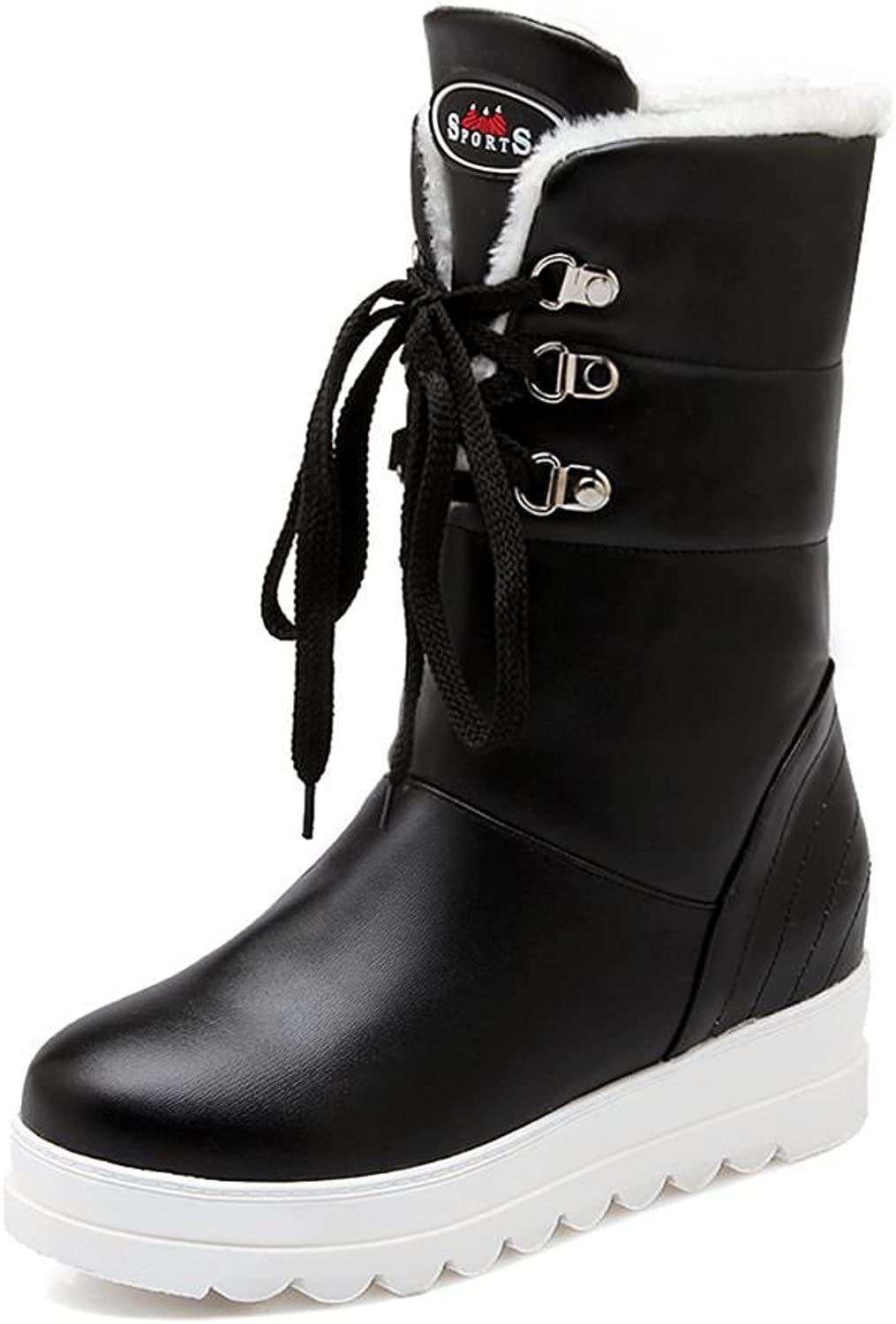 DecoStain Women's Lace Up Combat Platform Boots