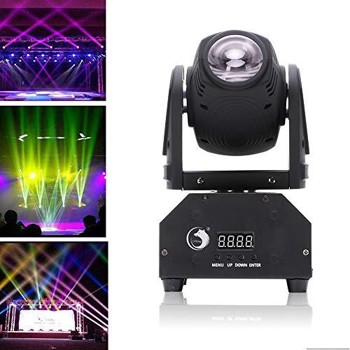 Teste Mobili LED,Uking DMX512 Luci da Scena Mini Rotante LED Pinspot Luce Effetto Attivazione vocale Luce Della Fase per Discoteca Festa di Compleanno Matrimonio Natale