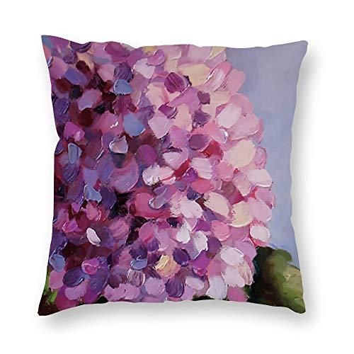 Fundas de cojín de hortensia, 45 cm x 45 cm, para sofá de terciopelo, funda de almohada con cremallera para adolescentes