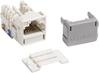 Systimax Modular Shuttered Faceplate, 2 port white Cat6