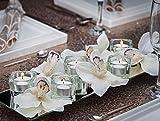 Teelichter weiß 50er Packung Brenndauer 8 Stunden - 3