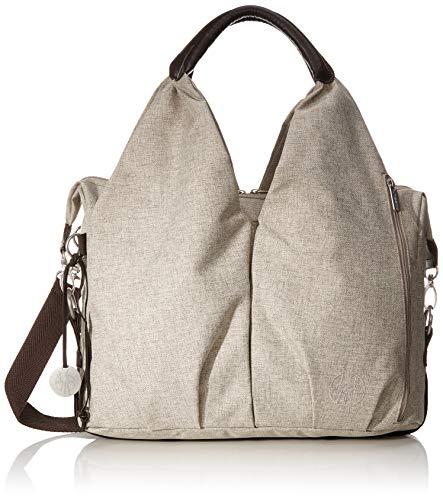 LÄSSIG Baby Wickeltasche nachhaltig inkl. Wickelzubehör nachhaltig produziert/Green Label Neckline Bag, beige/braun