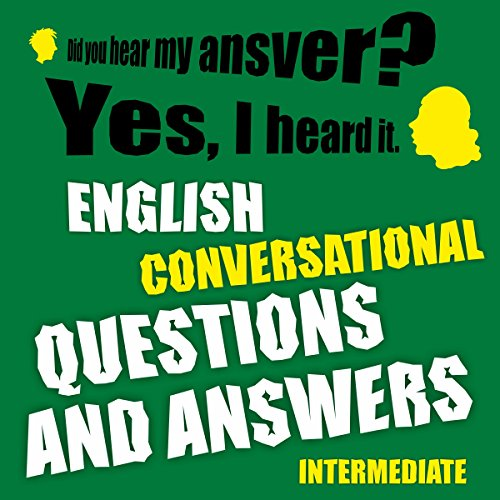 English conversational questions and answers intermediate Titelbild