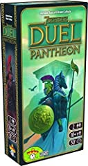 """A must-have expansion for the award-winning card game 7 wonders duel "" ""Enables players to recruit patron gods and goddesses for their cities "" ""Introduces grand temples which transform gameplay in age III "" ""Draws upon ancient Greek, Roman, Egyptia..."