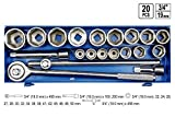 Steckschlüsselsatz 20 Tlg. LKW Ratschenkasten 22-50 3