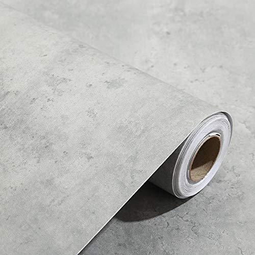 Papel pintado con diseño de hormigón con textura en 3D, 60 x 300 cm, de color gris, para paredes, armarios de cocina, encimeras, cuartos de baño o muebles de dormitorio