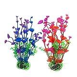 RIFNY künstliche Aquarium Pflanzen Deko, Kunststoff Aquariumpflanze Wasserpflanzen Plastikpflanzen Fuer Aquarium Dekoration 2-20cm