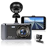Dash Cam, Abask Dash Cams for Cars Front and Rear with Night Vision