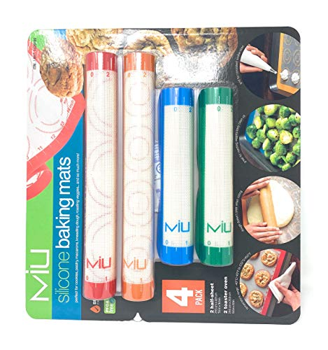 MIU Silicone Baking Mats No Mess for Roasting baking Vegetables Cookies and more
