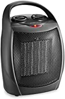 HOME_CHOICE Small Ceramic Space Heater Electric Portable Heater Fan for Home Dorm Office Desktop and kitchen with...