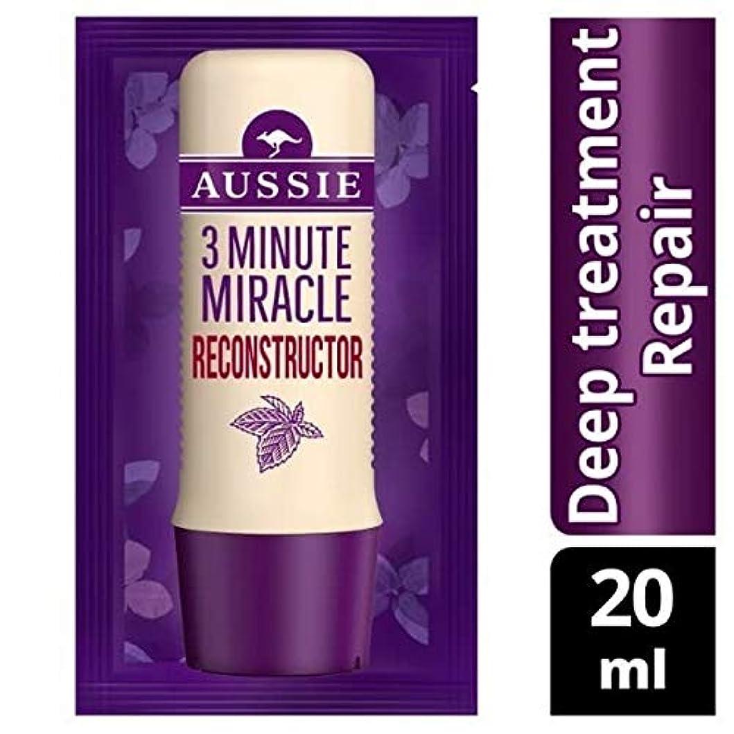 の前で喜ぶアメリカ[Aussie ] オーストラリアの深い治療3分の奇跡の再構成の20ミリリットル - Aussie Deep Treatment 3 Minute Miracle Reconstructor 20ml [並行輸入品]