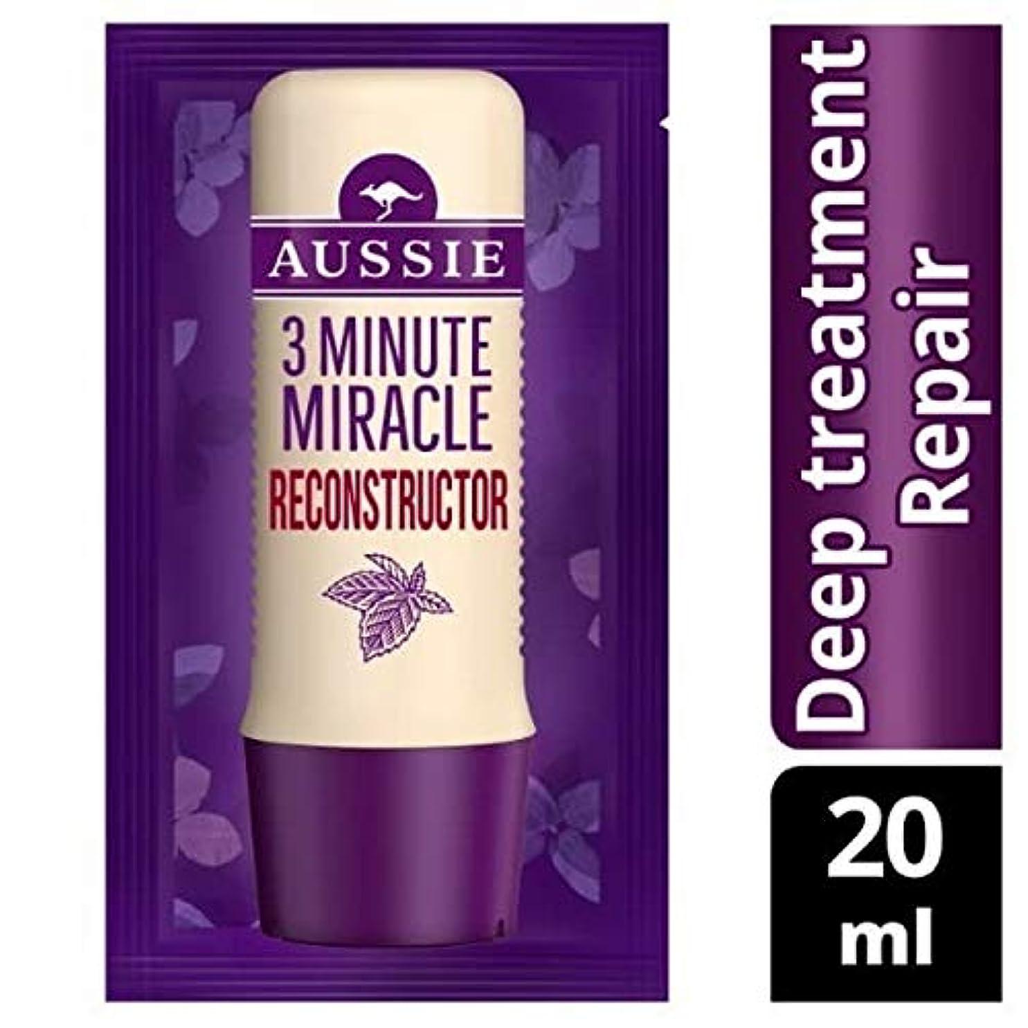 請求可能発信お母さん[Aussie ] オーストラリアの深い治療3分の奇跡の再構成の20ミリリットル - Aussie Deep Treatment 3 Minute Miracle Reconstructor 20ml [並行輸入品]