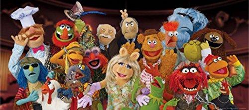 1art1 Muppets - Miss Piggy, Kermit Der Frosch, Gonzo Der Große Und Andere Charaktere Fototapete Poster-Tapete 202 x 90 cm
