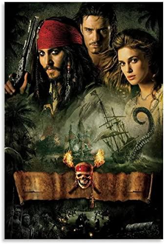 Cuadro en Lienzo 50x70cm Sin marco Póster de película de Piratas del Caribe, impresiones, arte de pared, decoración moderna, cuadros, lienzo para el hogar