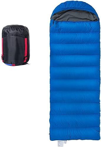 ZXQZ Sac de Couchage Adult Outdoor Camping Escalade Lumière Down Sac de Couchage Intérieur Déjeuner Pause épaississement Sac de Couchage Sac de Couchage Adulte (Couleur   Bleu)