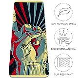 VFSS Pop Art Hand Gesture Yoga Mat – Premium gruesa estera ecológica, libre de todos los productos químicos. Agarre de alto rendimiento, acolchado ultra denso para apoyo y estabilidad en yoga