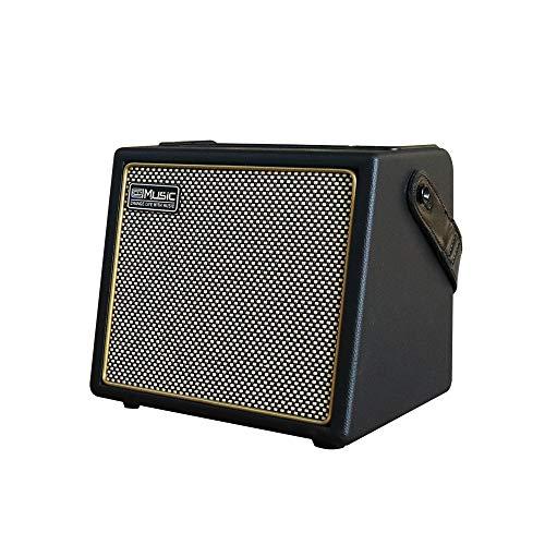 Coolmusic 30W Akustischer E-Gitarrenverstärker BT Tragbarer Gitarrenverstärker Lautsprecher mit Mikrofoneingang Bass Lautstärkeunterstützung Höhenregel Reverb-Effekt