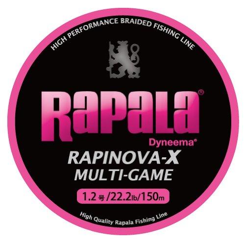 ラパラ ラピノヴァX マルチゲーム 150m 1.2号 22.2lb ピンク Rapinova-X Multi Game 150M . RLX150M12PK