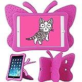 Xboun Butterfly Series EVA Shock Proof Protective Case for Apple iPad Mini 1/ Mini 2 / Mini 3 /Mini 4 /Mini 5 ipad case for Kids- Rose