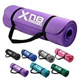 XN8 Padded Exercise Yoga Mat NBR 15mm Thick with Carry Handle Strap