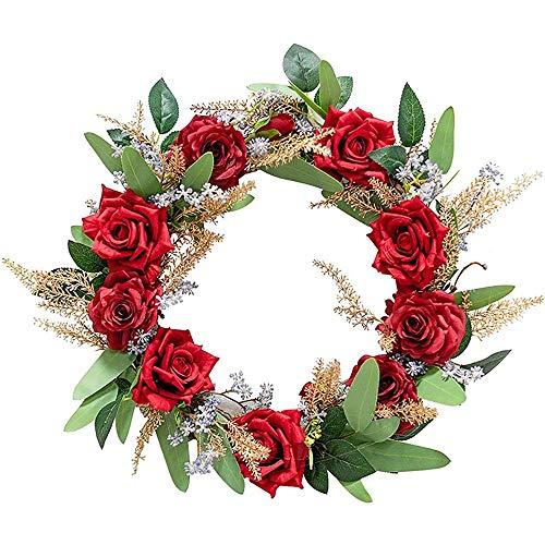 AMOYEE Artificial Rattan Wreath,Simulation Create Atmosphere Wreath Christmas Outdoor and Indoor Garden Room Store Front Door Create Atmosphere Christmas Garland