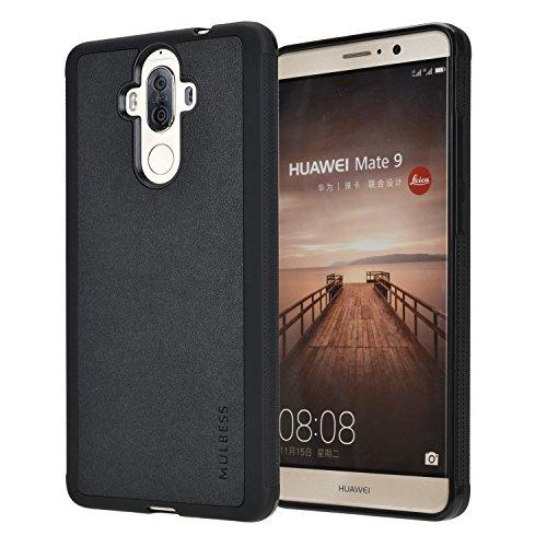 Mulbess Handyhülle für Huawei Mate 9 Hülle, Silikon Shockproof Anti-Rutsch, Anti-Scratch, Soft TPU Case Schutzhülle für Huawei Mate 9 Tasche, Schwarz