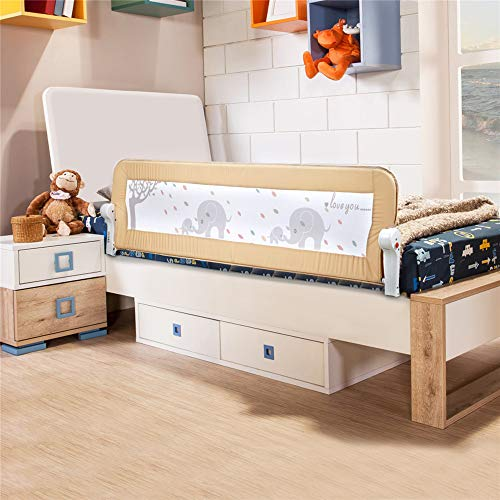 Bed Rail for Toddlers - 59 inches (1.5M) Extra Long Swing Down Bedrail...