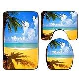 DREAMING-Strand Kokosnussbaum Ozean Landschaft Druck Toilette Teppich Badezimmer Dekoration...