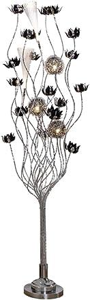 LILY クリエイティブ花びら織りボールフロアランプ、現代ミニマルリビングルームベッドルームデンフロアランプ (Color : A)