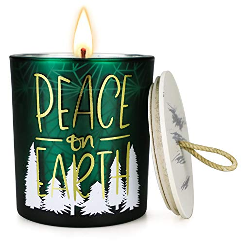 Frasier Fir Candle, 8 oz Soy Wax Large Jar Candle Scented Candles for Home, Women Gift, Holiday, Home Decoration, Birthday Gift, Thankgiving Day, Mother Day, Housewarming Gift, Christmas Decoration