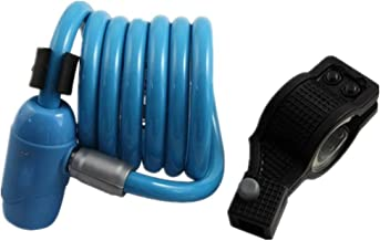 Steel Cable Sleutel Lock/Anti-Shear Anti-Saw Cach Lock/Fietslot-blauw