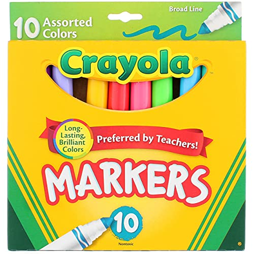 Crayola Assorted Broad Line Markers 10 Count - 2 Pack