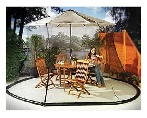 Umbrella Mosquito Net Canopy Patio Set Screen House Black