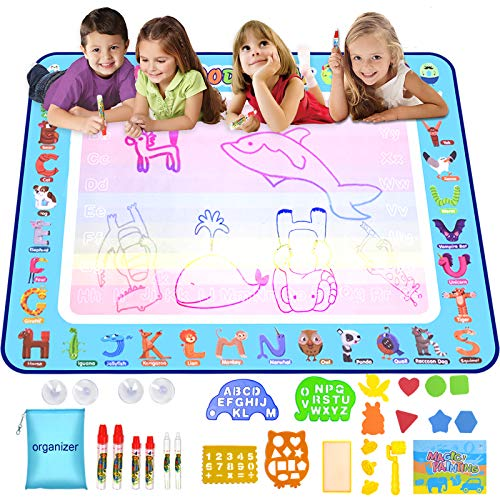 Miserwe Large Doodle Mat Water Writing Doodle Drawing Mat 40inx32in...