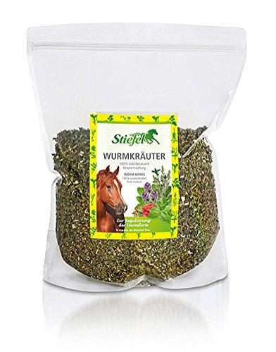 Stiefel Wurmkräuter Kräutermischung zur Regulierung der Darmflora für Pferde 1 kg Tüte