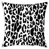 N\A Decoración Fundas de Almohada Pieles de Leopardo Animal Line Print Nature Print Nature Soft Decorativo Square Throw Pillow Sofá Cojín Fundas