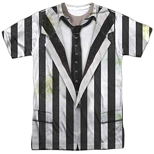 Unisex Adults Beetlejuice Costume Shirt, S to 3XL