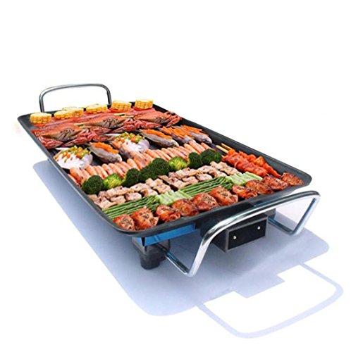 MFFACAI 1500-Watt elektrische Backform, koreanische Nichtraucher-Mehrzweckgrill Gruben/gegrillte Fischgericht/Elektro-Backofen/Grill-Maschine