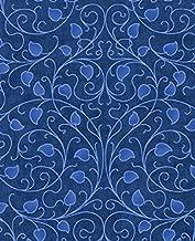 1.5 Yards Dreamweaver Blender by Jason Yenter in The Beginning 100% Cotton Quilt Fabric Blue Vine 3DWA-7